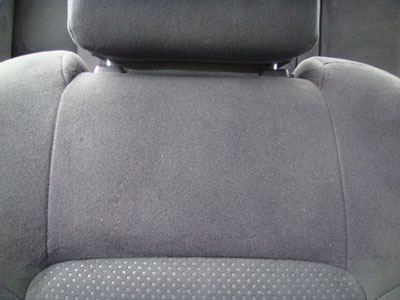 Repaired Car Seat Fabric